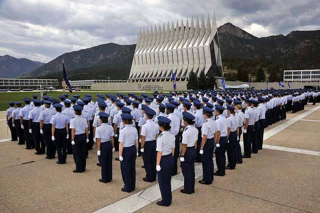 Cadets at the Air Force Academy must meet rigorous standards. (Courtesy U.S. Air Force)